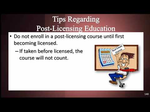 Florida Real Estate Post Licensing  Requirement