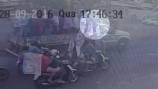 Momento do atentado em Itumbiara