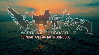 Indahnya Pantai Indonesia, Merdu Nyanyian OMBAK Besar Saat SUNSET Pas Buat Relaksasi