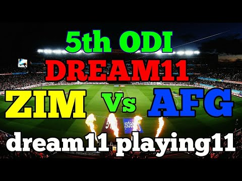 AFG VS ZIM 5th ODI DREAM 11 TEAM PLAYING 11 ZIM VS AFG SHARJAH UAE DREAM11 PLAYING11