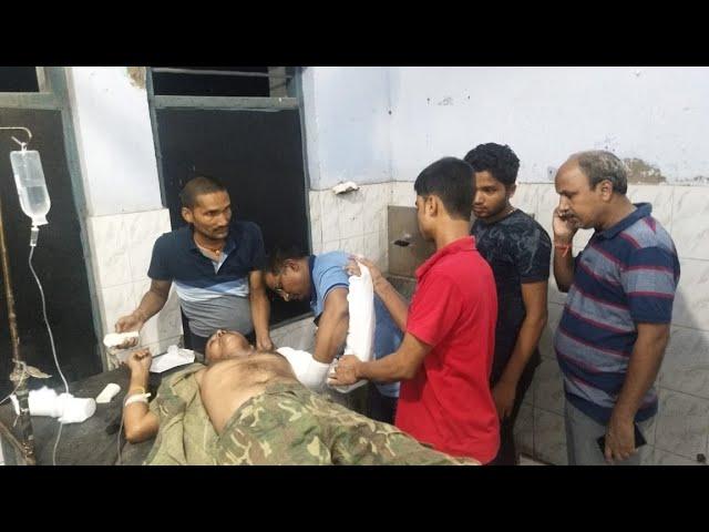 #सारण के बनियापुर में मारपीट की जांच करने पहुंची पुलिस टीम पर हमला, दो जवान घायल ||Chhapra Today||
