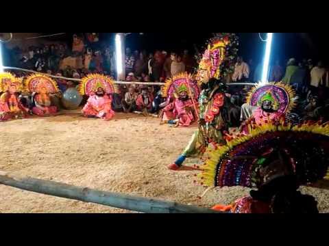 Samiran Karmakar chhou dance at Kudlung
