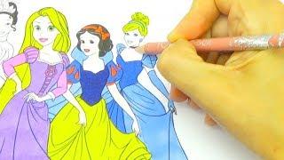 Пазл и раскраска для детей с принцессами  Игрушкин ТВ