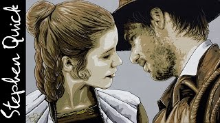 LEIA ♥ INDIANA JONES Mash Up PAINTING | Star Wars Parody Art