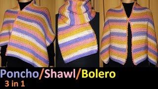 3 u 1- Pončo/šal/bolero (3 in 1 - Poncho/Shawl/Bolero)