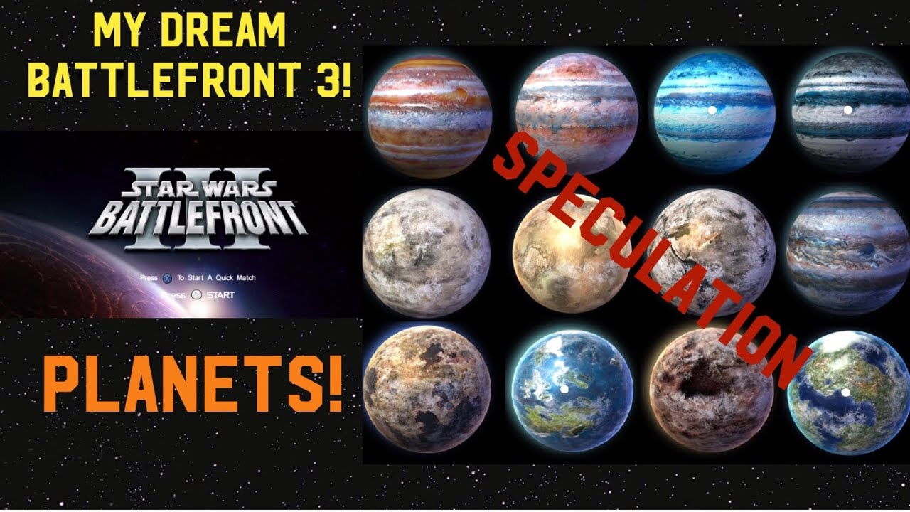 My Dream Star Wars Battlefront 3 Game Maps Part 1 Follow Up On Sequel Trilogy Rumor Youtube