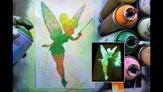 Tinkerbell GLOW IN DARK - SPRAY PAINT ART - by Skech