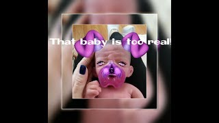 That's TOO real for me ! Fullbody silicone baby Ireland's 1st reactions