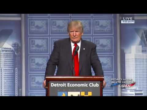 Clip 10 Protesters Interrupt Donald Trump At The Detroit Economic Club