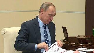 Путин и губернатор Красноярского края Толоконский