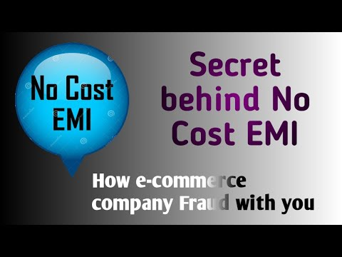 The actual fact behind No Cost EMI.