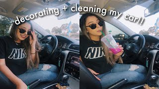 DECORATING + CLEANING MY NEW CAR