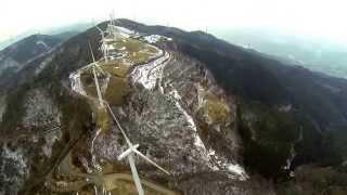 DJI Phantom2 空撮 徳島県 大川原高原の風車