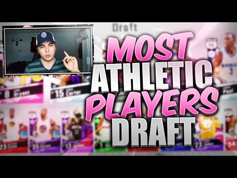 THE MOST ATHLETIC PLAYERS DRAFT! NBA 2K17 SQUAD BUILDER