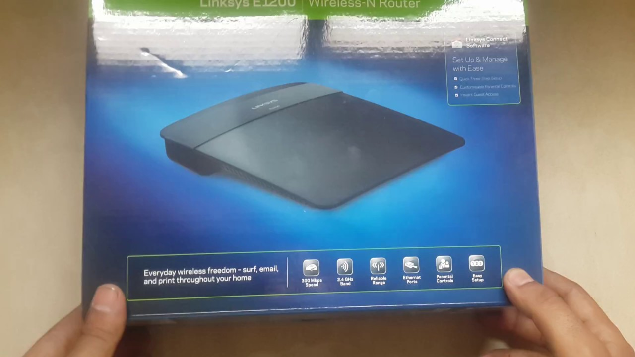 Linksys E1200 Wireless N 300 MBPS Router Unboxing & Overview