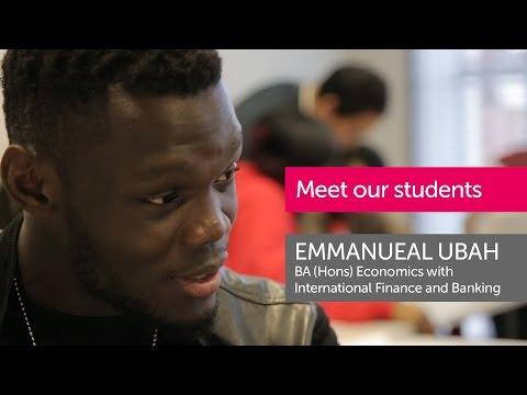 BA (Hons) Economics with International Finance and Banking – Emmanuel Ubah