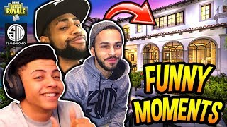 THE TSM_HOUSE FUNNY & SAVAGE MOMENTS FT. MYTH, HAMLINZ & DAEQUAN!! (PRANKS) Fortnite Moments