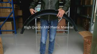 Black ABS Platic Fender Flare Arches