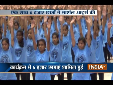 Six Thousand Girls Participated In Martial Art Class To Set-Up A World Record In Pratapgarh