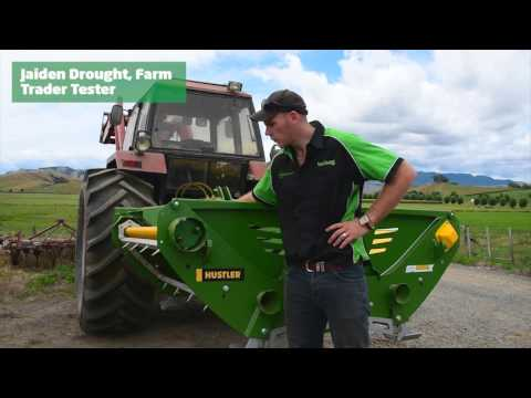 Farm Trader Magazine Tests Hustler SL360X Round Bale Feeder
