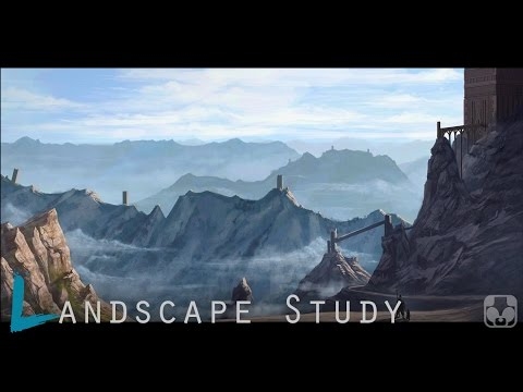 Landscape Digital Painting | The Journey | time lapse study tutorial