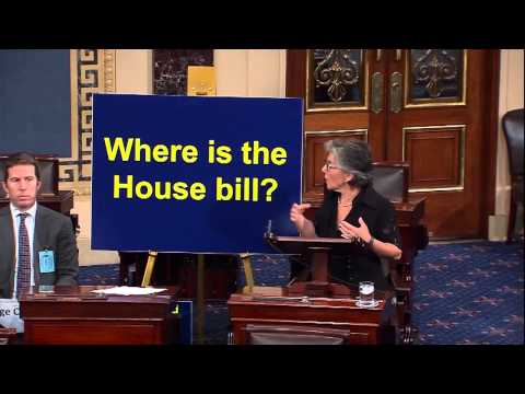 Senator Boxer:  Where is the House's Transportation Bill?