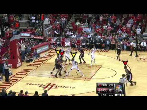 Wesley Matthews, Portland Trail Blazers spot-up three LaMarcus Aldridge 1