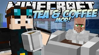 Minecraft | TEA & COFFEE MOD! (Beverage Stand Challenge!) | Mod Showcase(