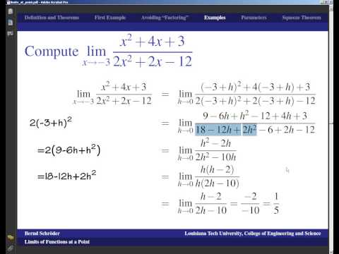 Concise Modular Calculus [3/97]: Limits at a Point (2/6 on Limits and Continuity)