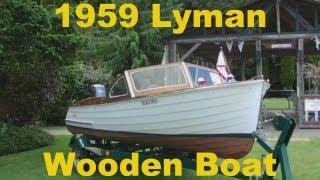 1959 Lyman Wooden Pleasure Craft Boat
