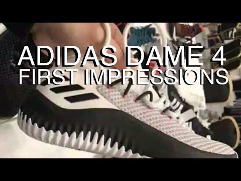 online store 3ce73 6b1da ADIDAS DAME 4  First Impressions