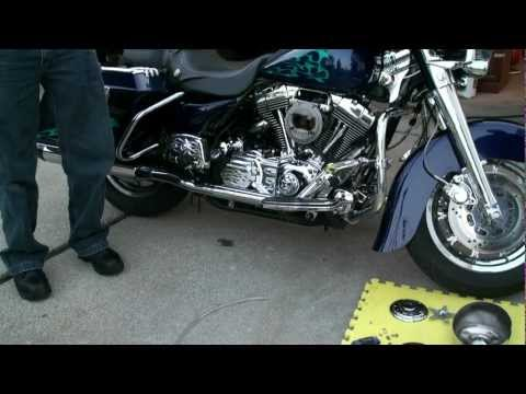 (Carbon Cleaning) - P1 of 3 Second Harley Davidson Motorcycle HHO Gas Carbon Cleaning 9-28-2012