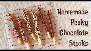 Cemilan Unik - Homemade Pocky Chocolate Sticks