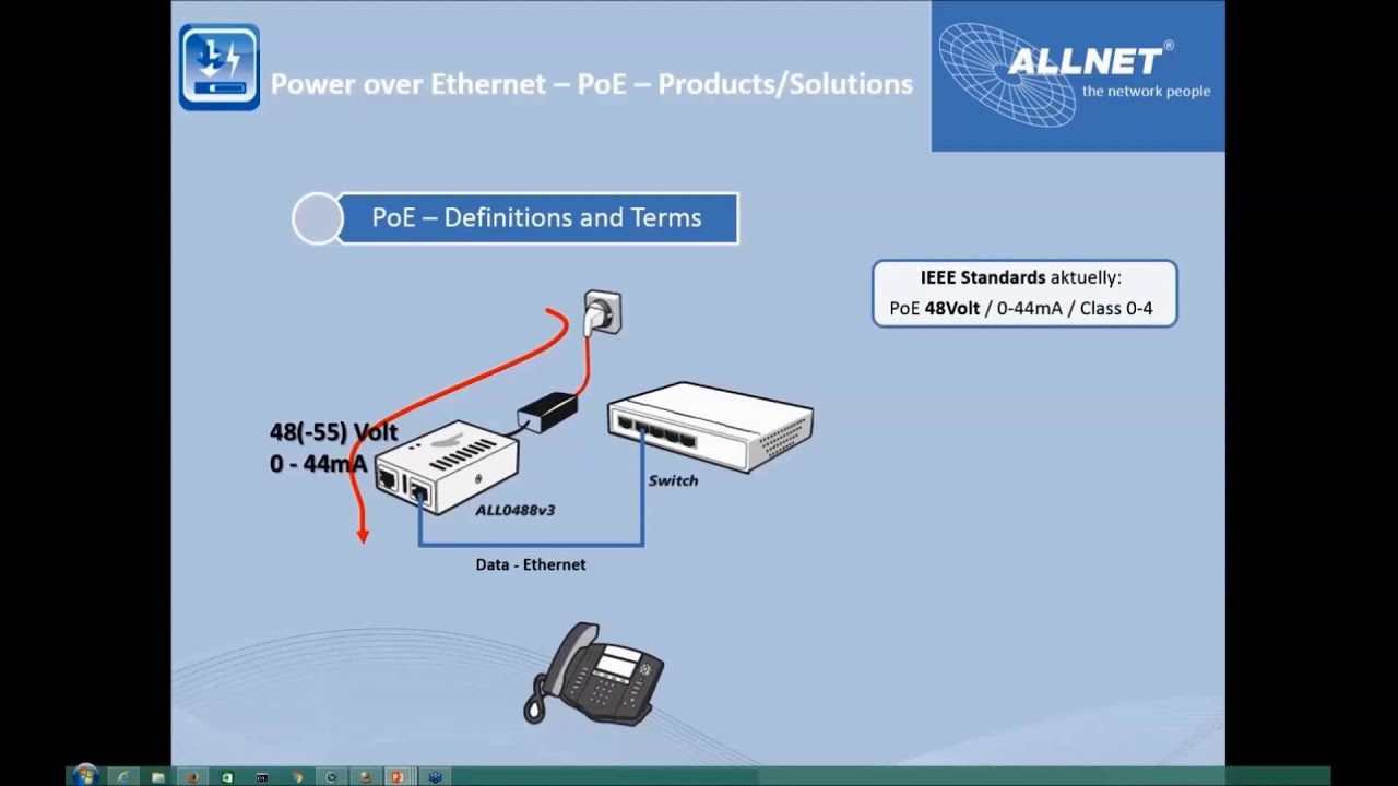 ALLNET Webinar - PoE Power over Ethernet (2016-05-18) - YouTube