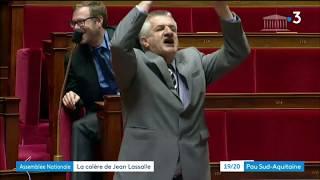 Colère Jean lassalle-Assemblée Nationale
