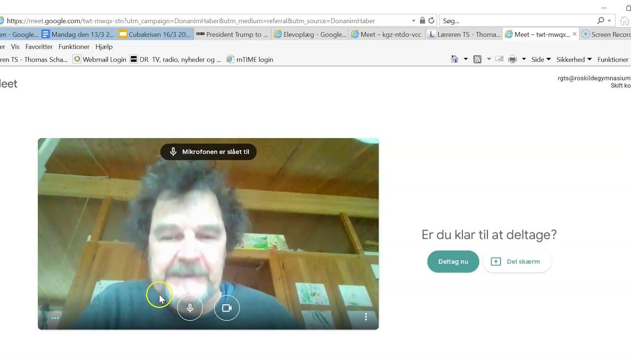 Opret Google Meet