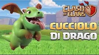 Clash of Clans : attacco con 16 cuccioli di drago e 2 mastini