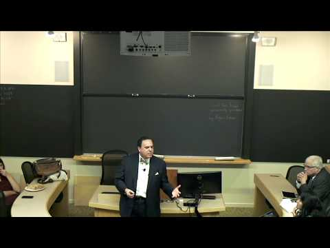 "Harvard University School of Law lecture on ""Public Purpose"" in International Law"