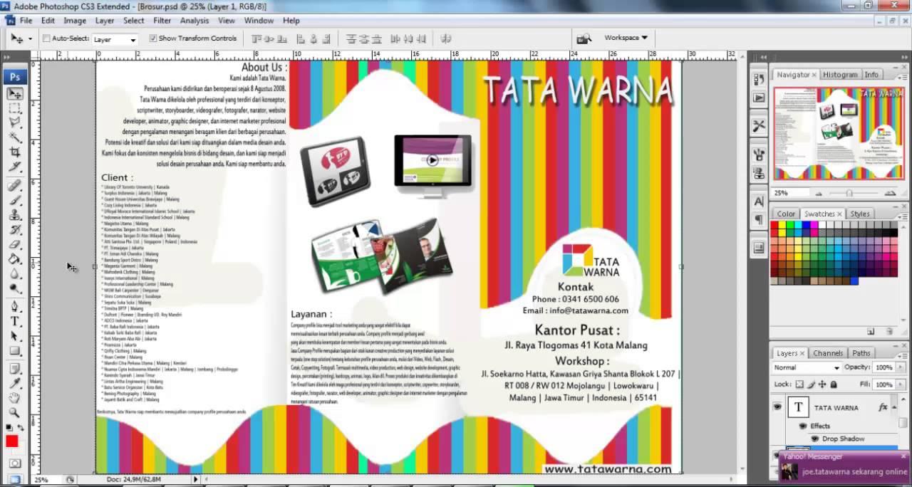 Cara Membuat Brosur dengan Photoshop - fotodovana.com
