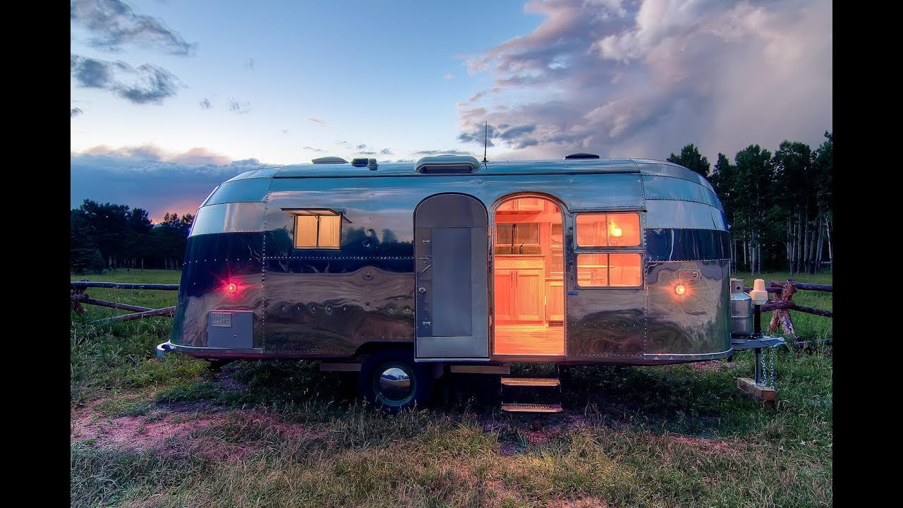 Vintage Airstream Restoration Travel Trailer Customization Idea