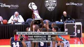2013 AAU 8th Grade Division 1 Championship Game- Team Thad War-Eagles Vs California Basketball Club