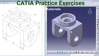 CATIA Training Course Exercises for Beginners - 4 | CATIA V5 Part Design Exercises