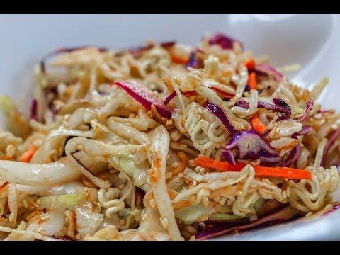 Crunchy Cabbage Salad | Vegetarian Recipe | Ramen Noodle Salad