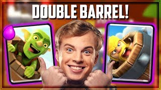 Clash Royale - DOUBLE BARREL BAIT! Wombo Combo