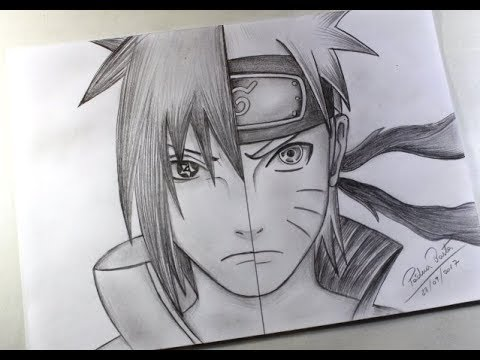 sasuke vs naruto speed drawing arteeciabrasil youtube