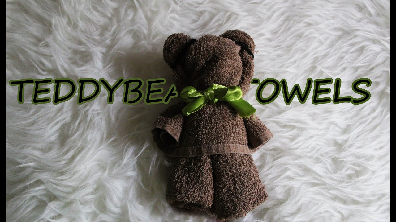 Piegare Gli Asciugamani A Forma Di Animale : Asciugamano orsacchiotto 🐻 teddy towel youtube