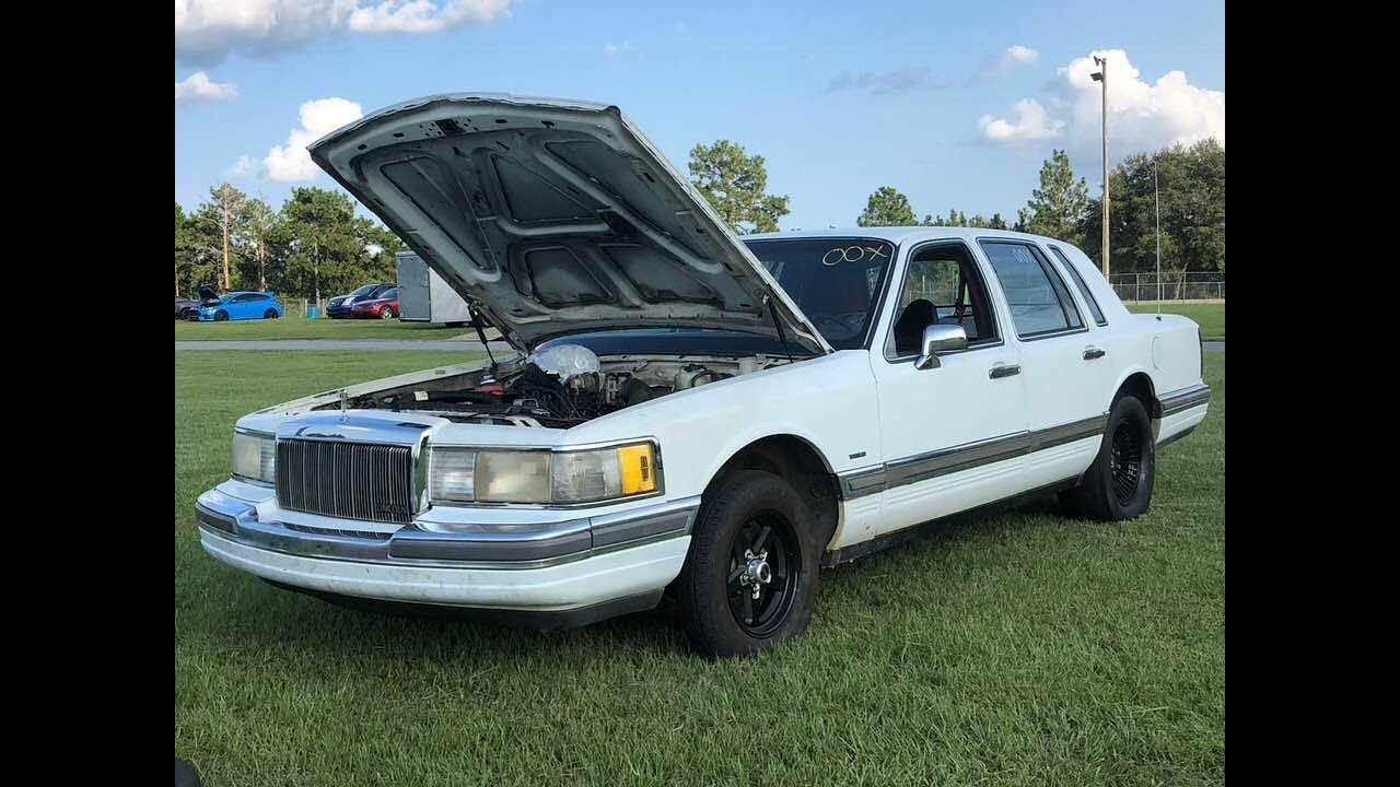 1990 5 0 Lincoln Town Car Loveboat Pt 8 Budget Drag Car Youtube