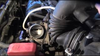Быстрая чистка дроссельной заслонки на Toyota - Corolla