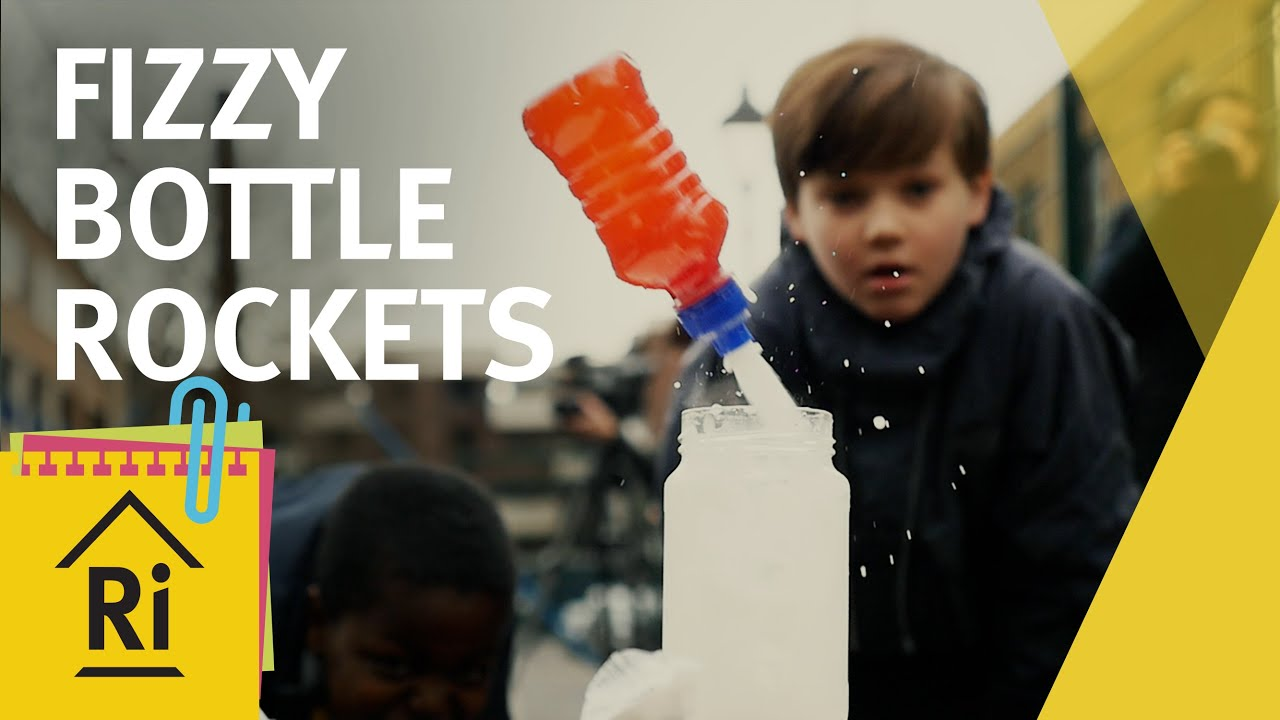 Science for kids - How to make fizzy bottle rockets - ExpeRimental #16