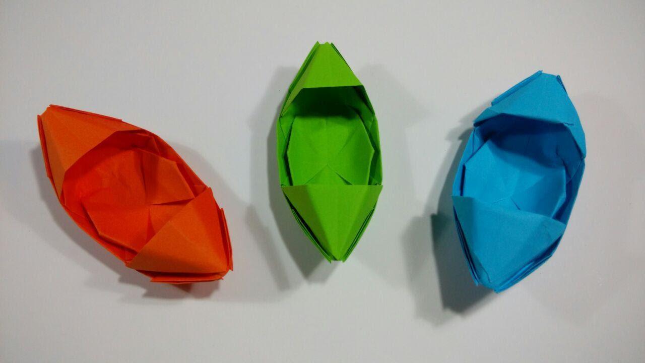Como hacer un barco de origami sencillo - YouTube